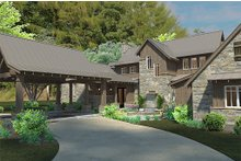 House Plan Design - Country style home, craftsman detailing, front elevation