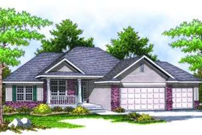 Traditional Exterior - Front Elevation Plan #70-815 - Houseplans.com
