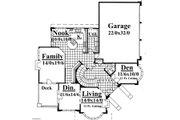 Contemporary Style House Plan - 4 Beds 2.5 Baths 3850 Sq/Ft Plan #509-50 Floor Plan - Main Floor