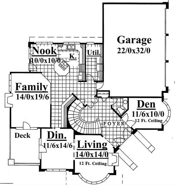 Contemporary Floor Plan - Main Floor Plan #509-50