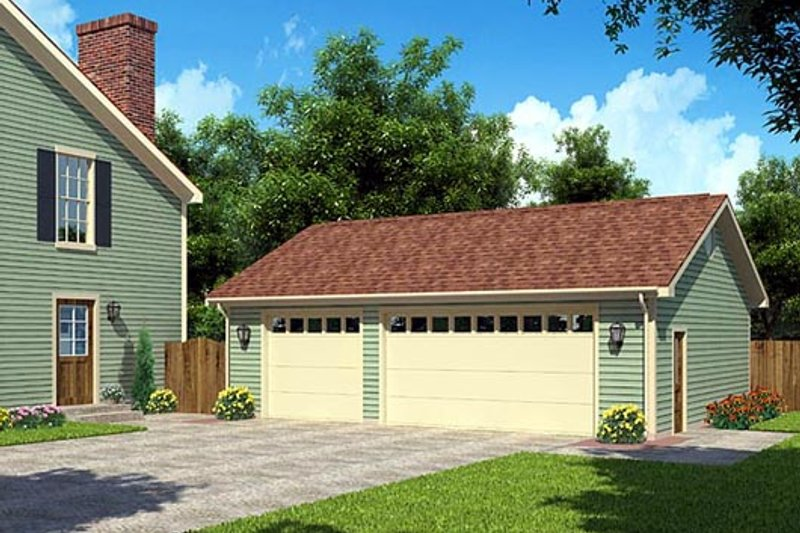 Traditional Style House Plan - 0 Beds 0 Baths 1 Sq/Ft Plan #312-874 Exterior - Front Elevation