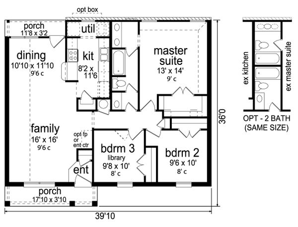 Traditional Floor Plan - Main Floor Plan Plan #84-583