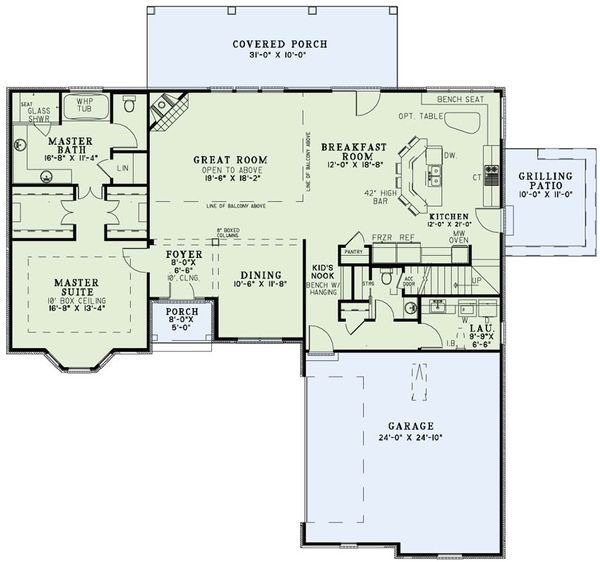 European Floor Plan - Main Floor Plan Plan #17-2495