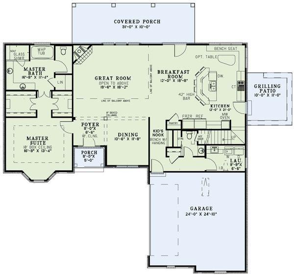 European Floor Plan - Main Floor Plan Plan #17-2495