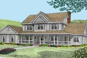 Country Exterior - Front Elevation Plan #11-210