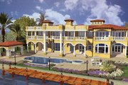 Mediterranean Style House Plan - 5 Beds 8.5 Baths 7893 Sq/Ft Plan #420-198 Exterior - Other Elevation