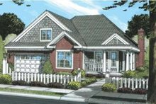 Architectural House Design - Traditional Exterior - Front Elevation Plan #20-1871