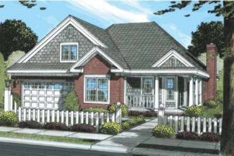 Home Plan - Traditional Exterior - Front Elevation Plan #20-1871