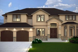 House Plan Design - Contemporary Exterior - Front Elevation Plan #1066-16