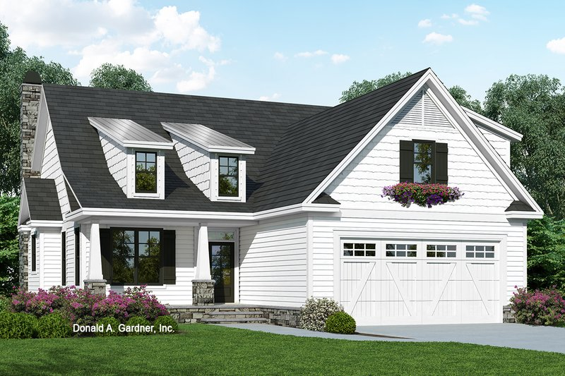 Cottage Exterior - Front Elevation Plan #929-1093