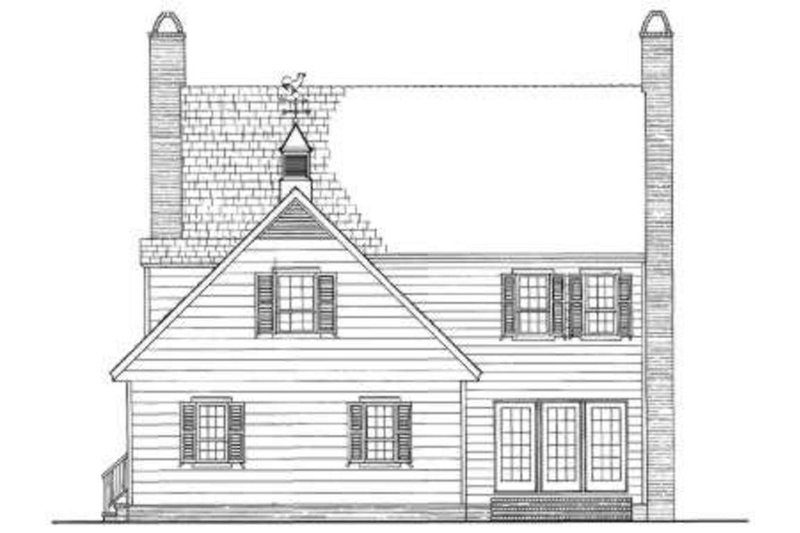Colonial Exterior - Rear Elevation Plan #137-241 - Houseplans.com
