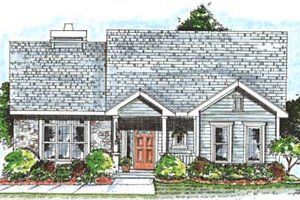 Dream House Plan - Traditional Exterior - Front Elevation Plan #20-1368