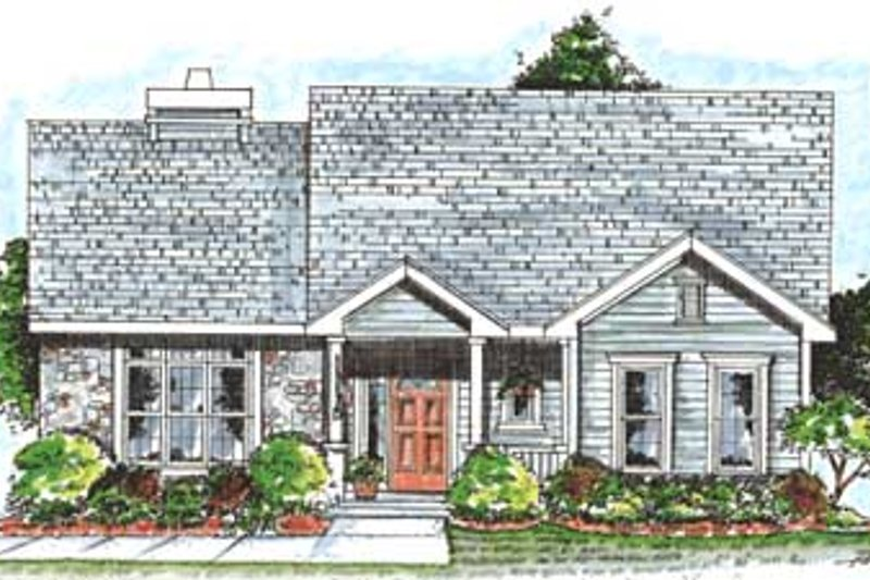 Architectural House Design - Traditional Exterior - Front Elevation Plan #20-1368