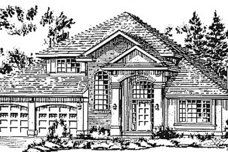 European Exterior - Front Elevation Plan #18-242