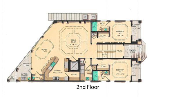 Mediterranean Floor Plan - Main Floor Plan #548-9