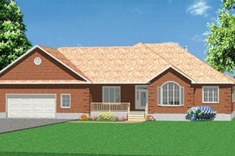 Traditional Style House Plan - 2 Beds 2 Baths 2150 Sq/Ft Plan #414-101 Exterior - Front Elevation