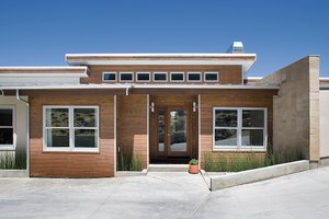 Contemporary style, modern design home, front elevation