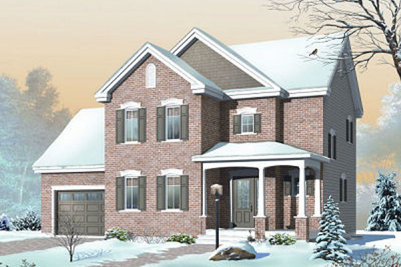 Traditional Exterior - Front Elevation Plan #23-846 - Houseplans.com