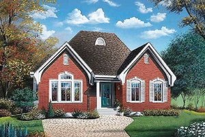 Architectural House Design - European Exterior - Front Elevation Plan #23-319