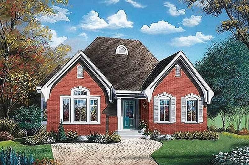 European Exterior - Front Elevation Plan #23-319
