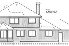 Home Plan - Traditional Exterior - Rear Elevation Plan #91-201