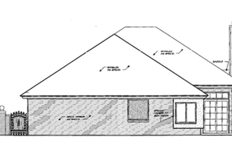 European Exterior - Rear Elevation Plan #310-427 - Houseplans.com