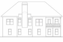 Craftsman Exterior - Rear Elevation Plan #419-109