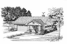 Home Plan - Traditional Exterior - Front Elevation Plan #72-266