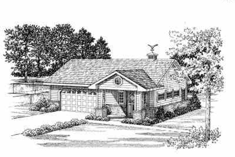 Traditional Exterior - Front Elevation Plan #72-266 - Houseplans.com