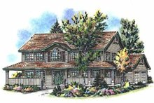 House Blueprint - Country Exterior - Front Elevation Plan #18-262
