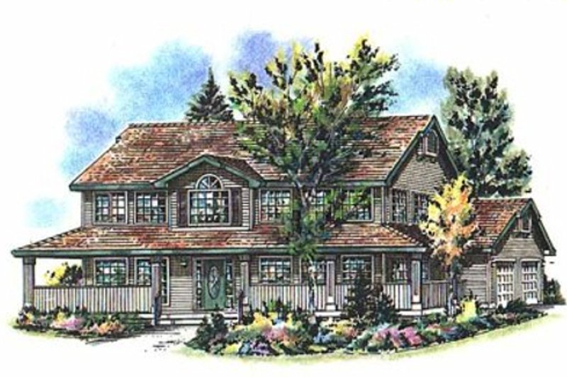 Country Exterior - Front Elevation Plan #18-262 - Houseplans.com