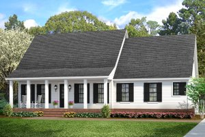 Cottage Exterior - Front Elevation Plan #406-9662