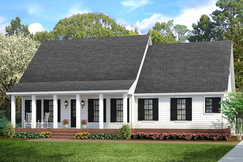 Cottage Style House Plan - 3 Beds 2 Baths 1599 Sq/Ft Plan #406-9662 Exterior - Front Elevation