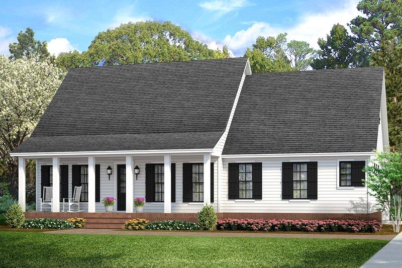 Dream House Plan - Cottage Exterior - Front Elevation Plan #406-9662