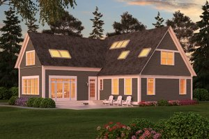 Colonial Exterior - Front Elevation Plan #903-2
