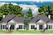 European Style House Plan - 3 Beds 2 Baths 2418 Sq/Ft Plan #26-111 Exterior - Front Elevation