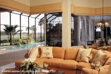 Mediterranean Interior - Family Room Plan #930-192