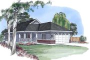 Traditional Style House Plan - 3 Beds 2 Baths 1298 Sq/Ft Plan #409-102