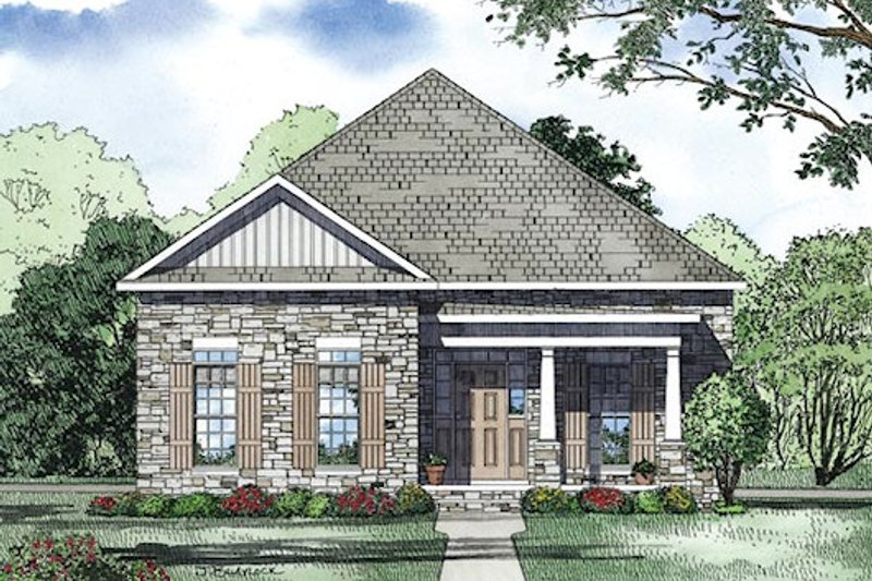 Traditional Exterior - Other Elevation Plan #17-2421 - Houseplans.com