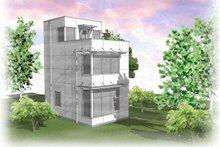 Architectural House Design - Modern Exterior - Rear Elevation Plan #48-485
