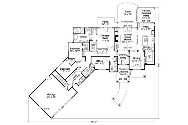 Craftsman Floor Plan - Other Floor Plan Plan #124-1113