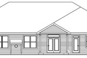Craftsman Style House Plan - 3 Beds 2.5 Baths 2661 Sq/Ft Plan #124-773 Exterior - Rear Elevation