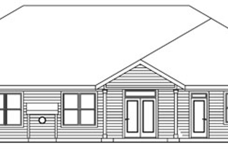 Craftsman Exterior - Rear Elevation Plan #124-773 - Houseplans.com