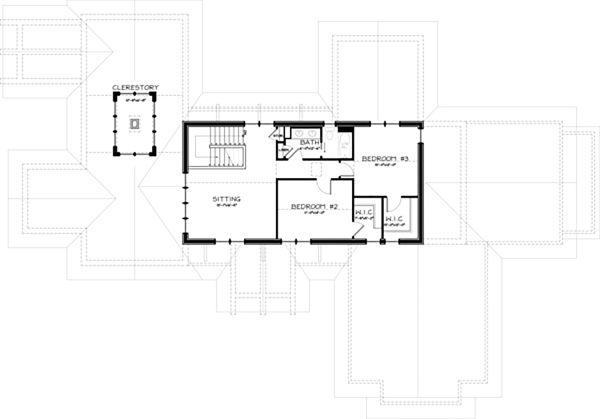 Craftsman Floor Plan - Upper Floor Plan Plan #434-26