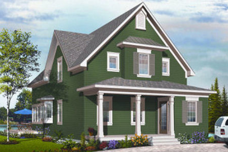 Traditional Exterior - Front Elevation Plan #23-825