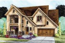 Dream House Plan - European Exterior - Front Elevation Plan #20-2195
