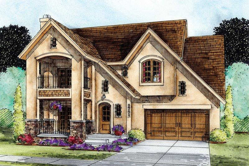 Home Plan - European Exterior - Front Elevation Plan #20-2195