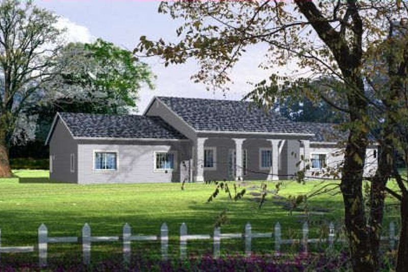 Southern Style House Plan - 3 Beds 2 Baths 2435 Sq/Ft Plan #1-1084 Exterior - Front Elevation
