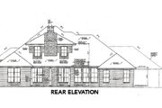 European Style House Plan - 3 Beds 2.5 Baths 2685 Sq/Ft Plan #310-660 Exterior - Rear Elevation