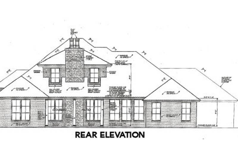 European Exterior - Rear Elevation Plan #310-660 - Houseplans.com